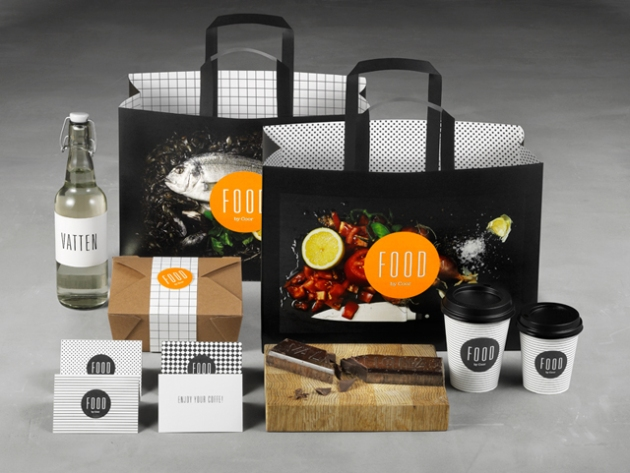 Coor Restaurante diseño de packaging