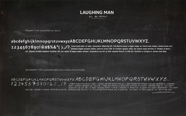 Laughing Man tipografía corporativa