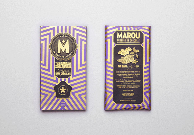 Packaging creativo. Chocolate Marou.